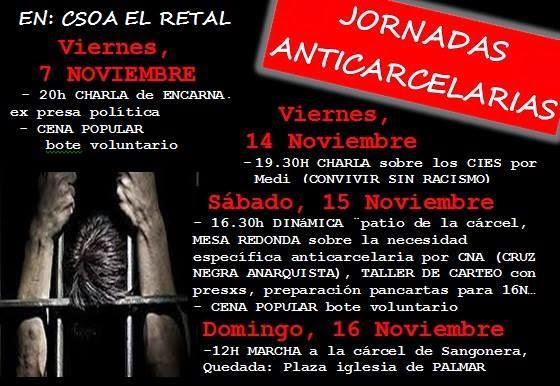 Jornadas Anticarcelarias - Murcia