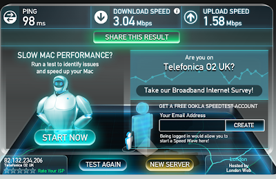 Giffgaff 3g speed test