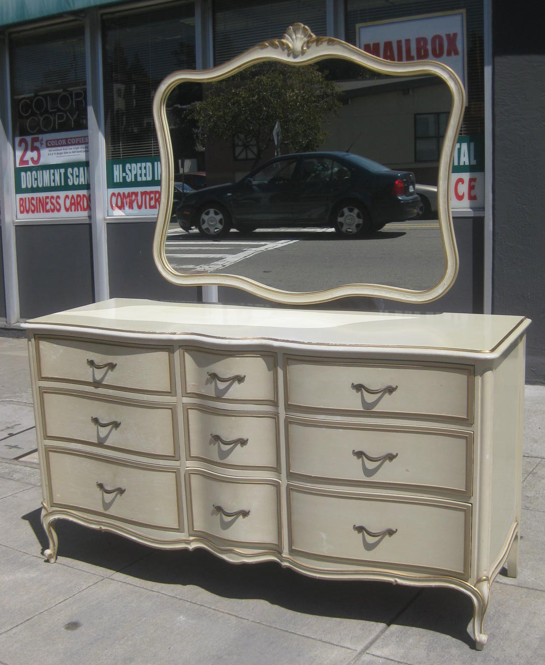 Uhuru Furniture Collectibles Sold French Provincial Dresser Mirror 125
