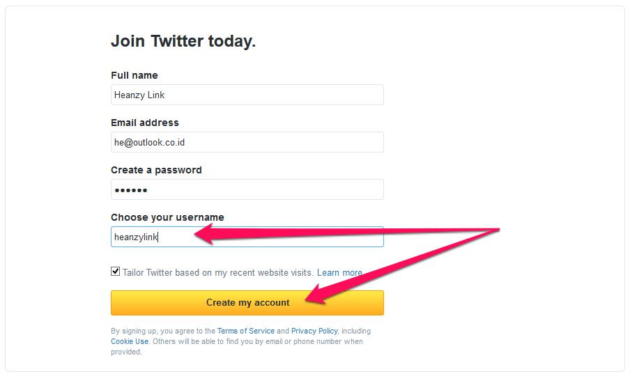 masukkan username