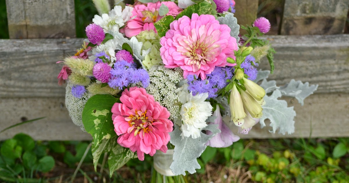 Wedding Flowers From Springwell Pink Zinnias And