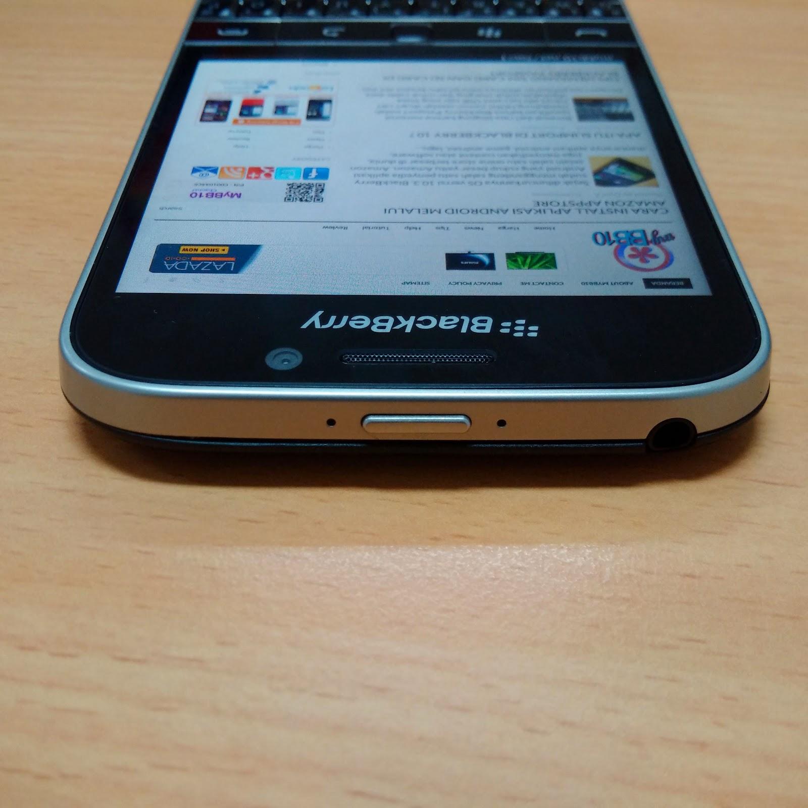 BlackBerry Classic - atas