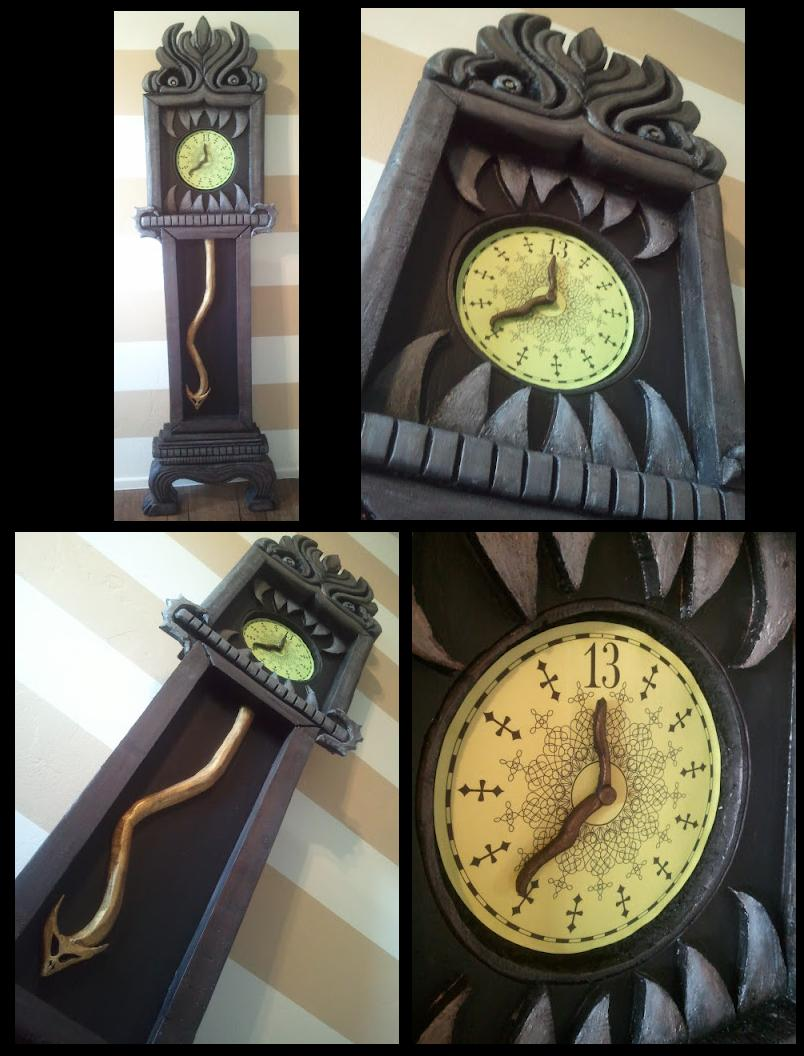 mansion 13 hour clock as seen in the ride i realize this project isnt nbc related but i keep getting asked how i made it so i thought id share