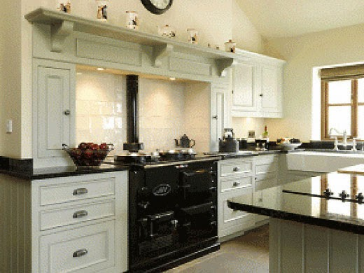 Modern country style what makes a modern country kitchen for Aga kitchen designs