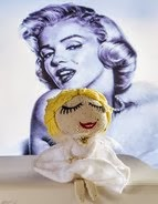 Marilyn Monroe doll - $5.50 USD