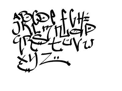 Tag Graffiti Letters A-Z
