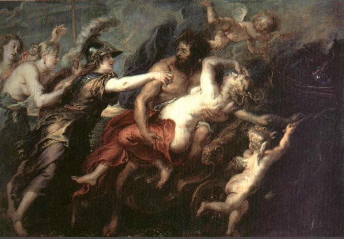 Rapto de Persefone por Pedro Pablo Rubens (1577-1640)