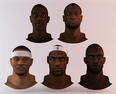 NBA 2K13 East All-Star Starters Cyberface Mod Pack