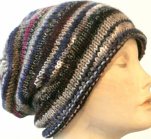 Swoon Fibers: Easy Scrap-Buster Slouch Hat