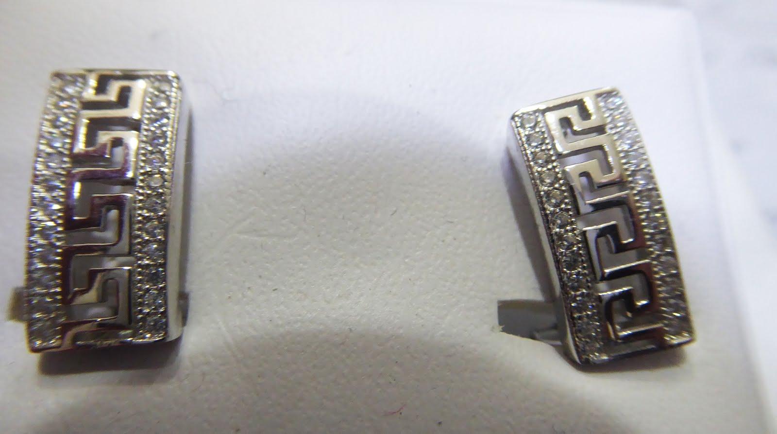 Pendientes de plata con cierre omega