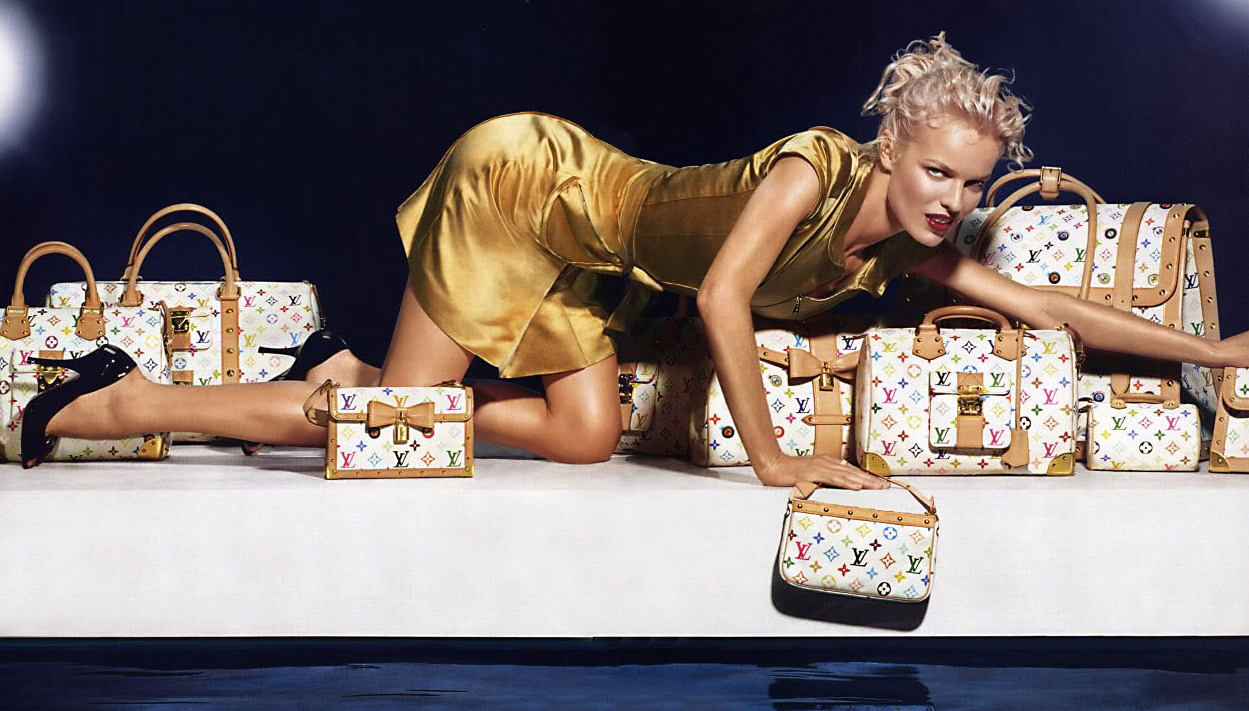 Eva Herzigova photographed by Mert Alas & Marcus Piggott for Louis Vuitton Spring/Summer 2003 campaign via fashioned by love / british fashion blog