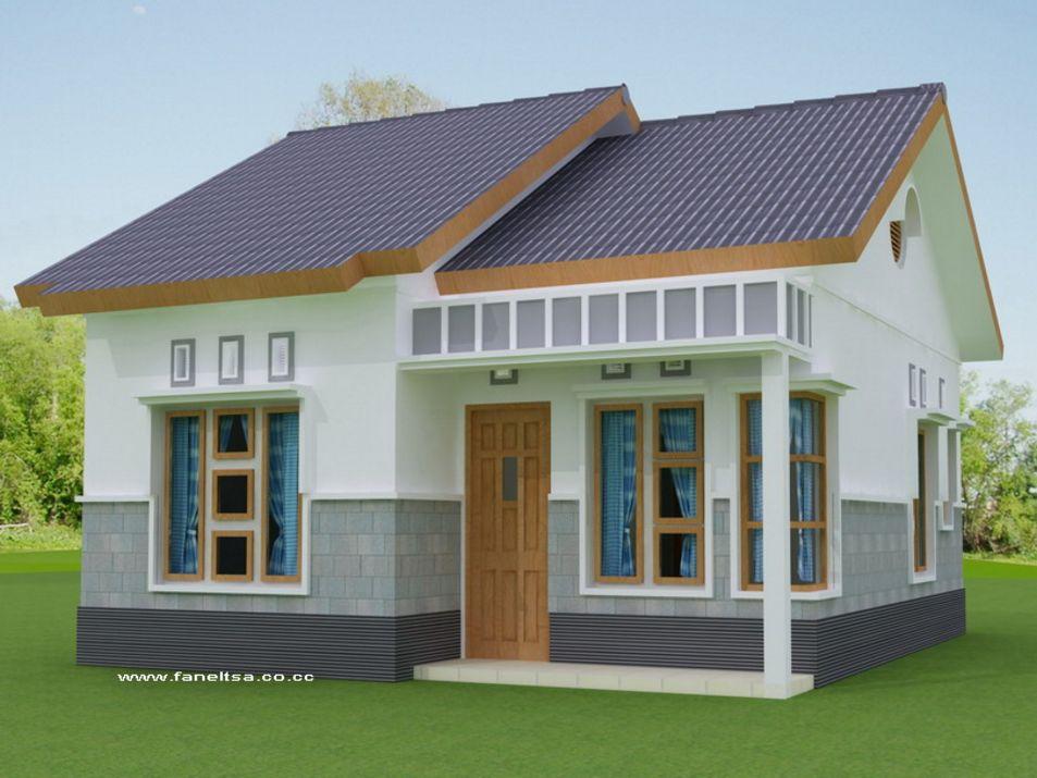 kreasi rumah kecil sederhana terlihat depan