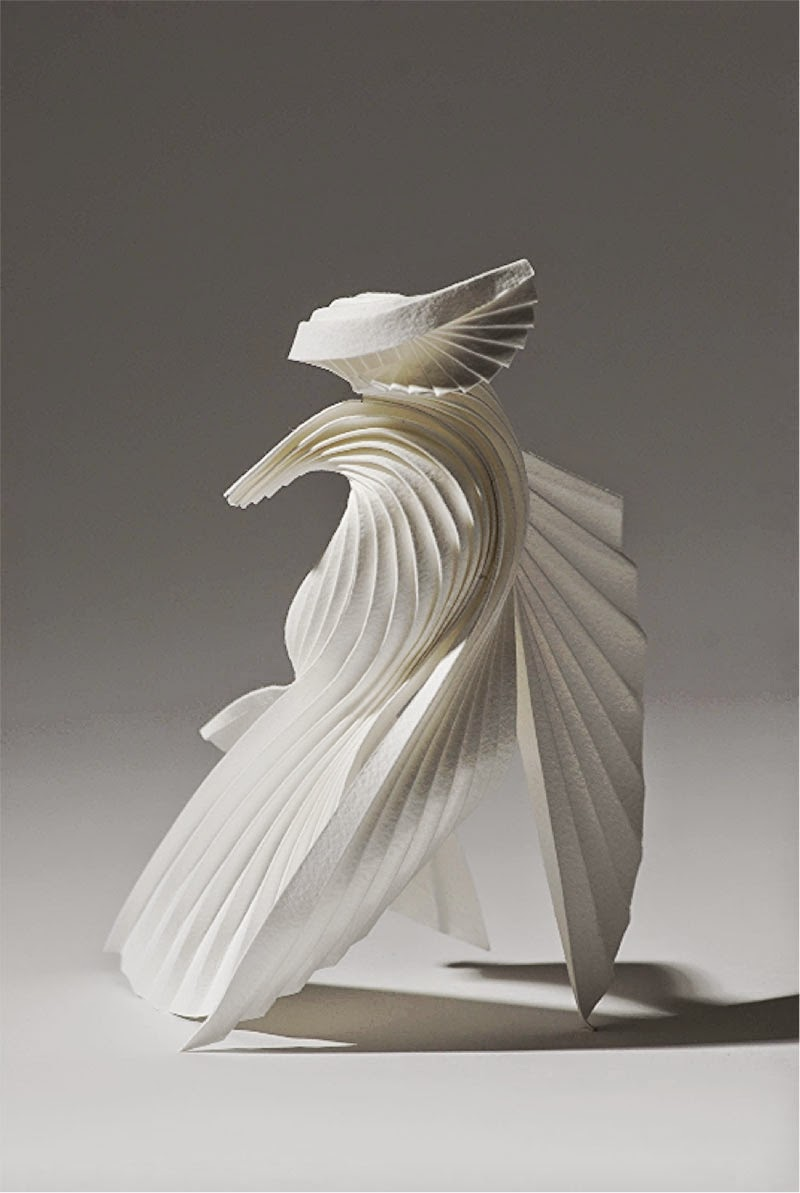 esculturas de papel de Richard Sweeney