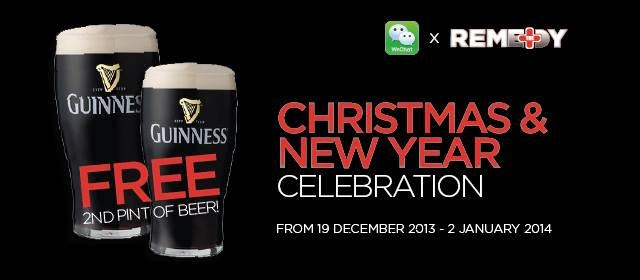 Enjoy Your First Pint Of Guinness Or Kilkenny At The Price Of Rm18 And Enjoy The 2nd Pint Of Beer For Free Free This Promotion Starts From 19th December