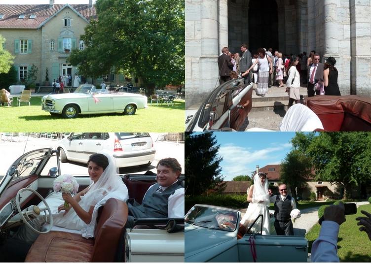 ctait le samedi 25 juin 2011 baume les dames doubs au gr dune superbe journe avec la 403 cabriolet tous nos voeux de bonheurs aux jeunes maris - Location Voiture Mariage Franche Comt