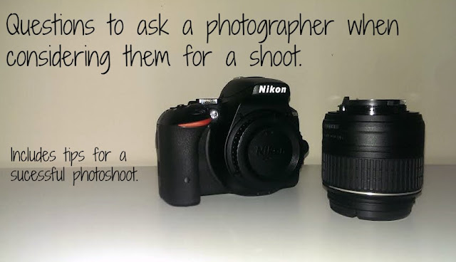 Questions to ask a photographer when considering them for a shoot