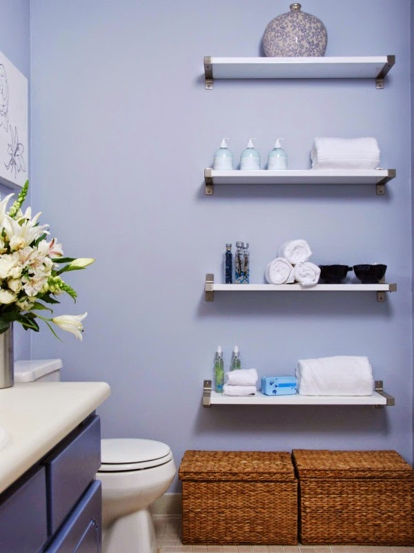 12 elegant decorating ideas for floating wall shelves