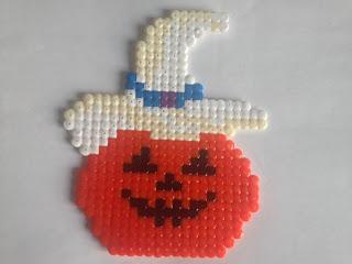 Bientôt Halloween ... citrouille en perles hama