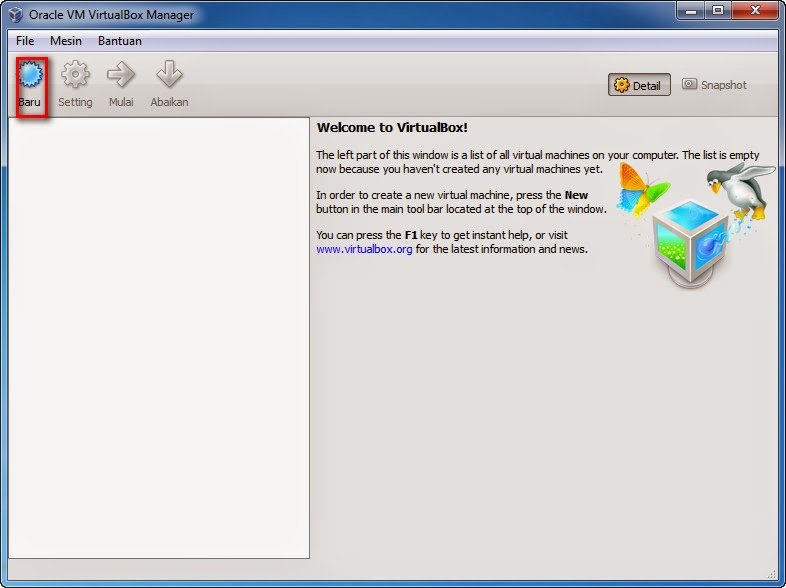 Cara Instal VirtualBox