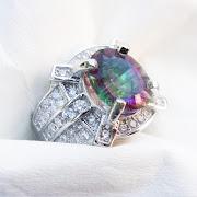 Cincin Batu Permata Mystic Quartz - SP679