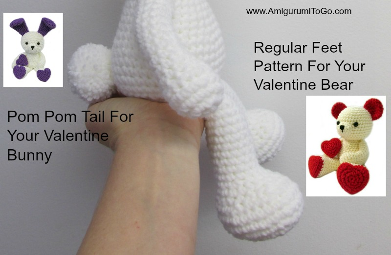 Regular Legs For Valentine Bear and Pom Pom Tail For ...