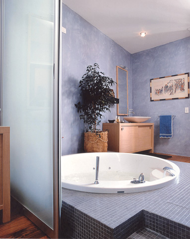 Bagno Blu E Giallo: Arredo bagno moderno.