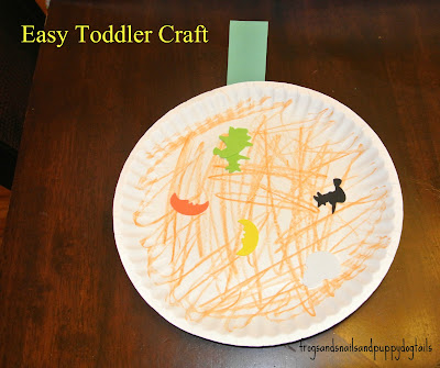 Very Simple Halloween Art for Tots