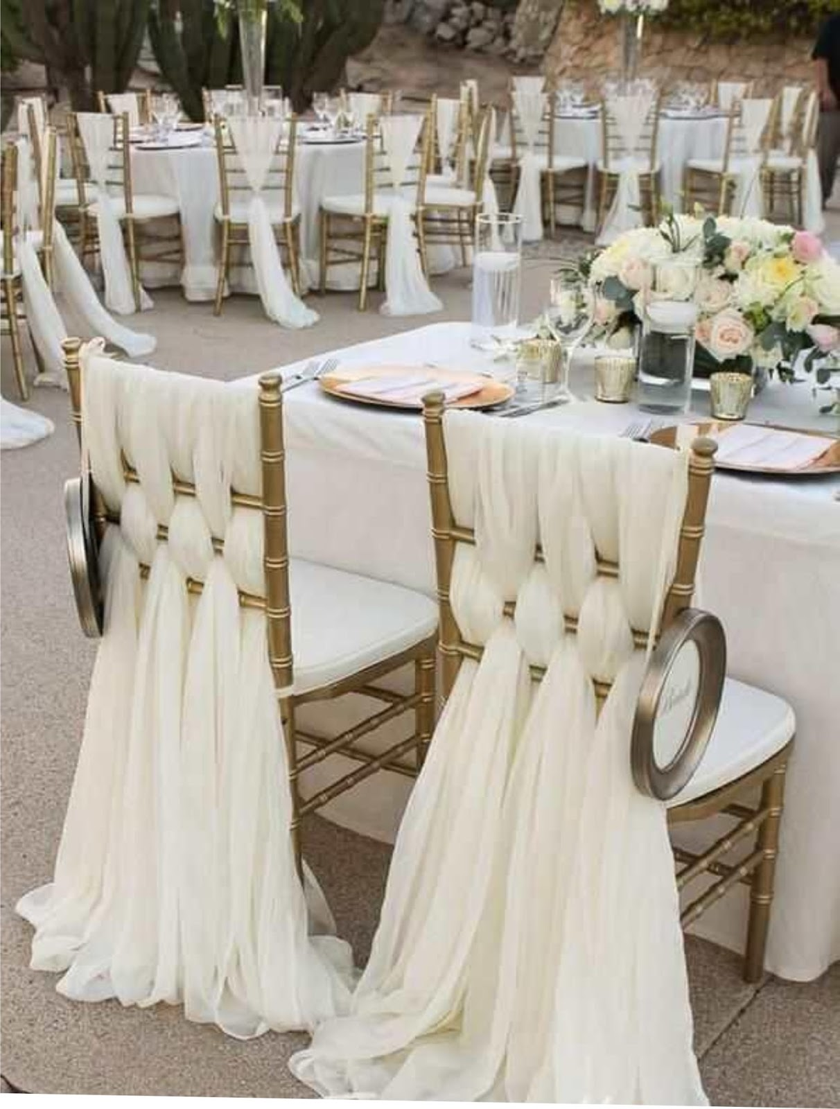 Image result for diy wedding decorations chairs