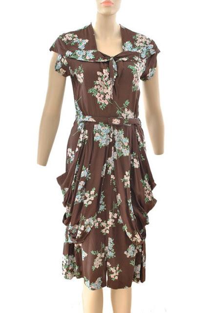 1940s Draped Dress
