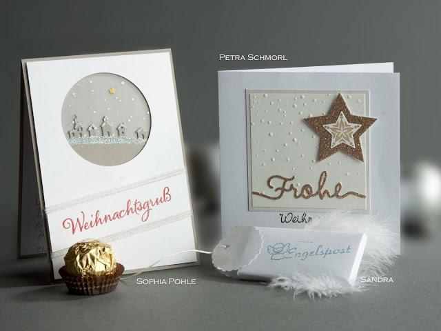 Weihnachtskarte, Christmas Card, Stampin up, Schlittenfahrt, Weihnachtliche Grußworte