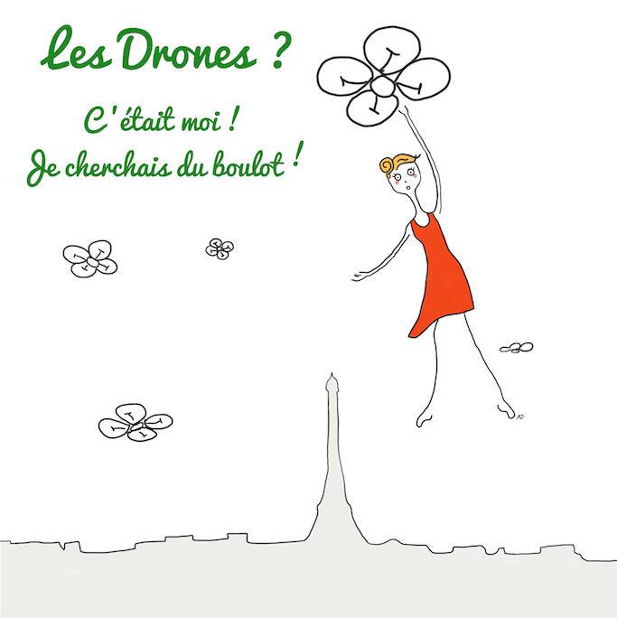 drônes, technologie, voler, Paris, surveillance, espionnage, emploi, CV, chômage, pôle emploi