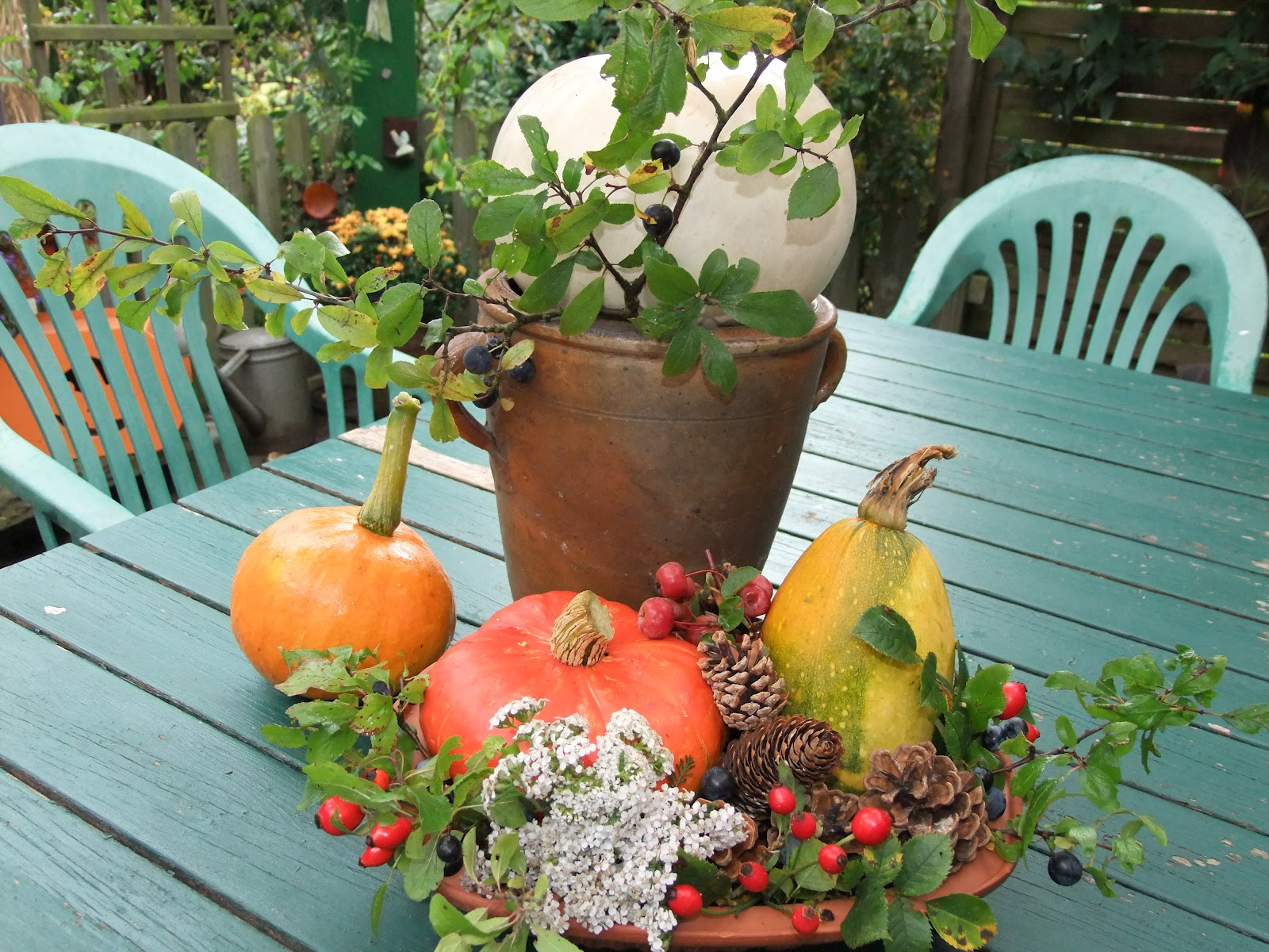 Pretty primitives herbstdeko - Herbstdeko hauseingang ...