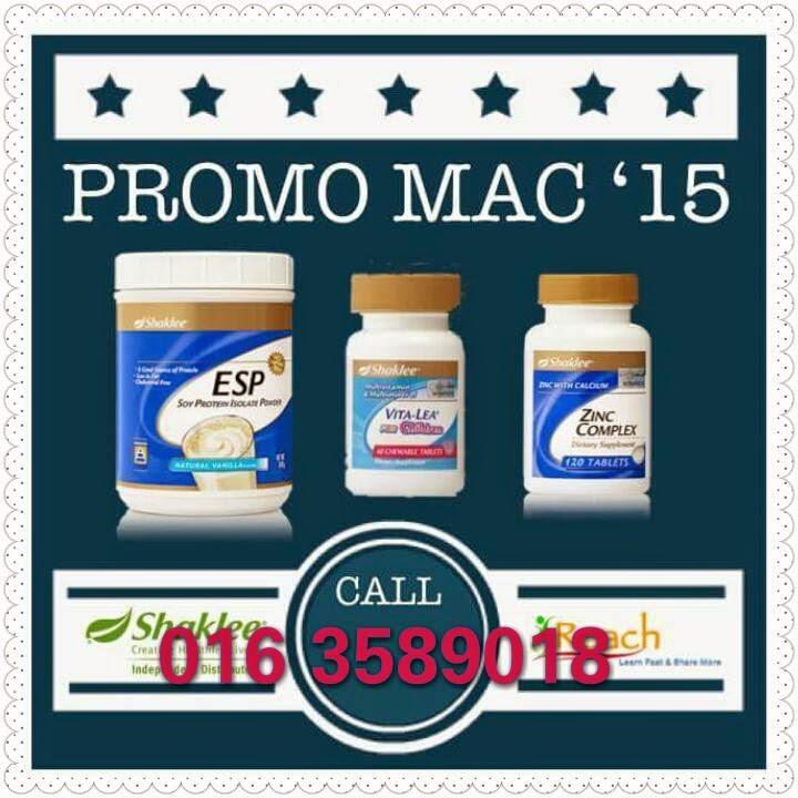 promosi shaklee mac 2015