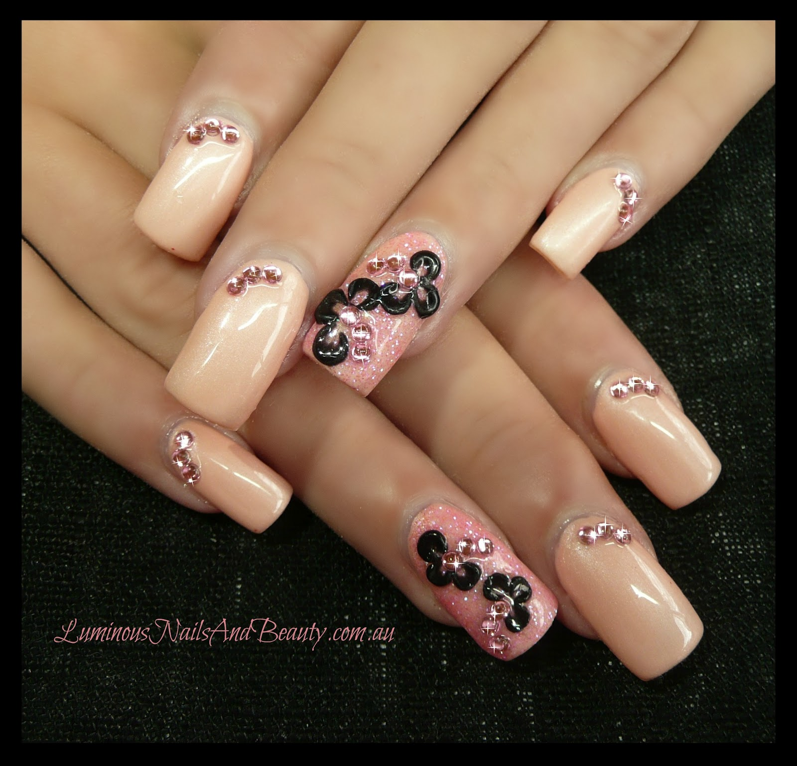The Awesome Pink zebra print nail designs Photo