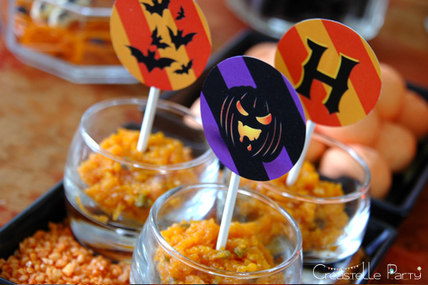 halloween sweet table - topper - halwa