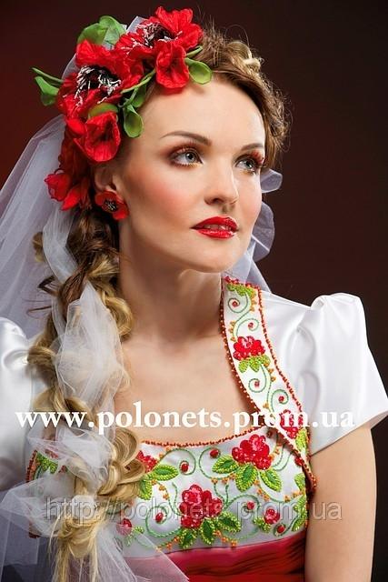 Вишивана весільна сукня від модного дизайнера Оксани Полонець, Україна