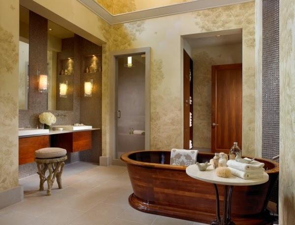 Imagenes De Baños Lindos:Un baño en estilo rústico debe ser decorado con colores naturales