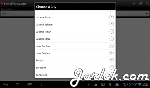 Choose city