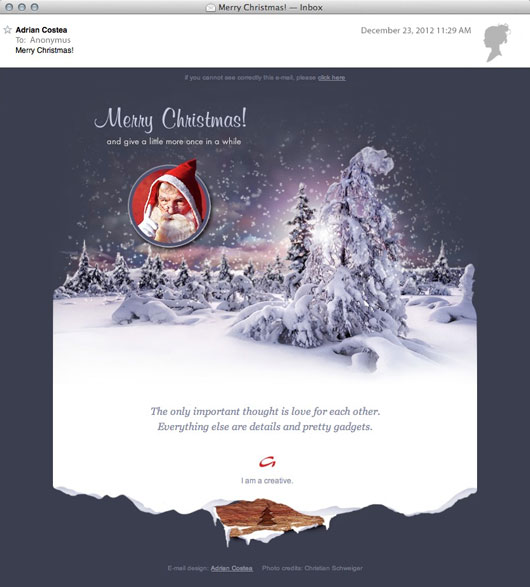 Christmas Newsletter Adrian A COSTEA Senior Media UI UX