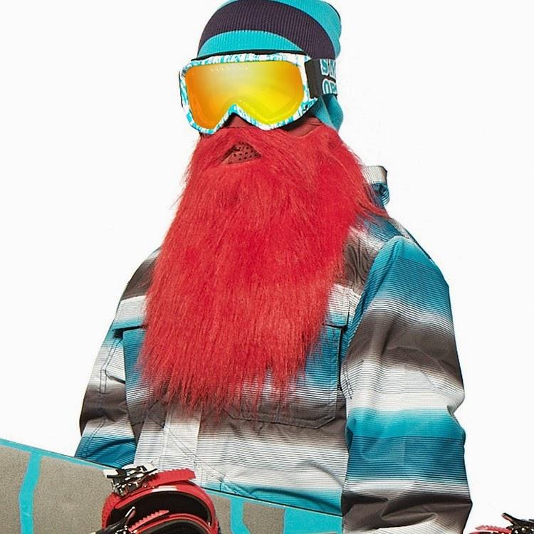 Barba para Esquiar Roja