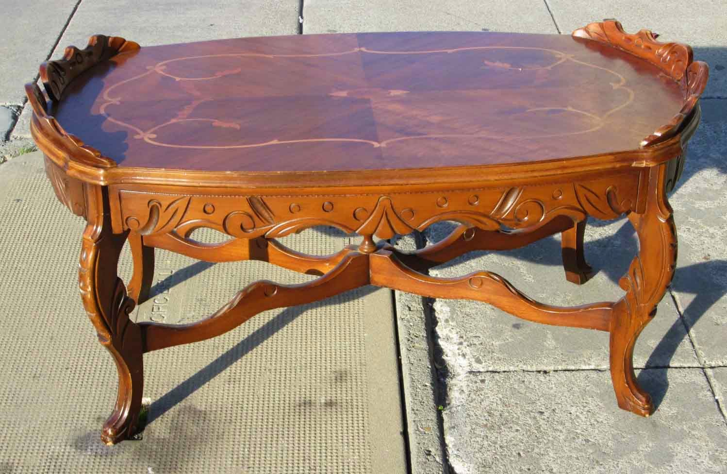 uhuru furniture collectibles sold ornate coffee table 35 as is. Black Bedroom Furniture Sets. Home Design Ideas