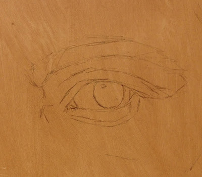 Initial Sketch of Eye by Terry Strickland