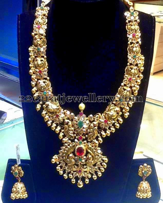 Antique Floral Set by Suraj Bhan Jewels