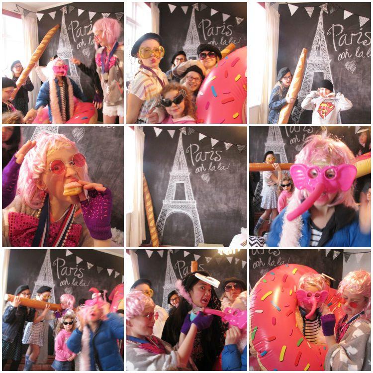 Paris Party photo booth craziness