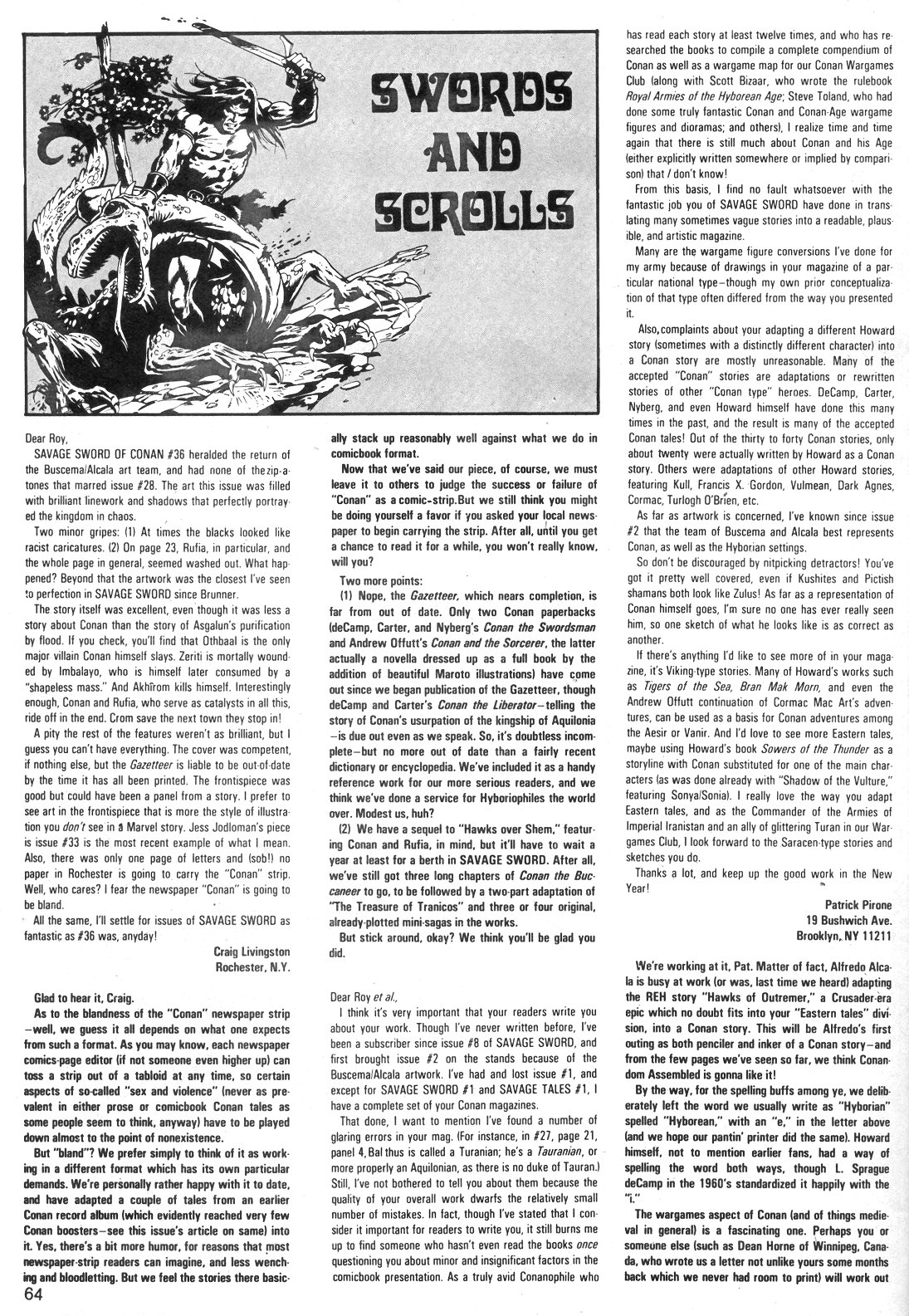 The Savage Sword Of Conan Issue #40 #41 - English 64