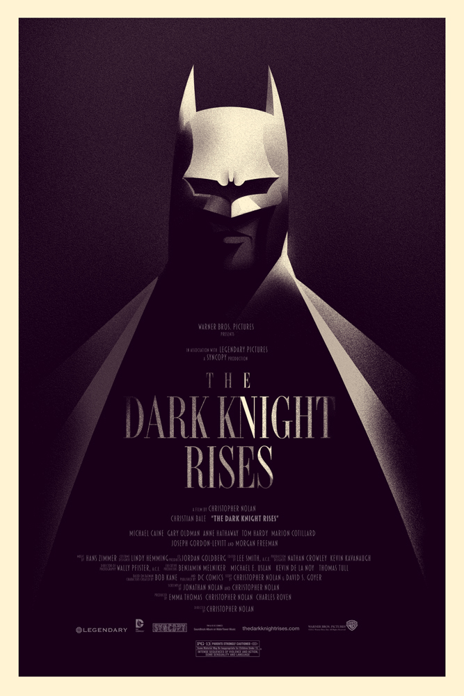 Olly Moss Dark Knight Rises Batman on Ual Vs