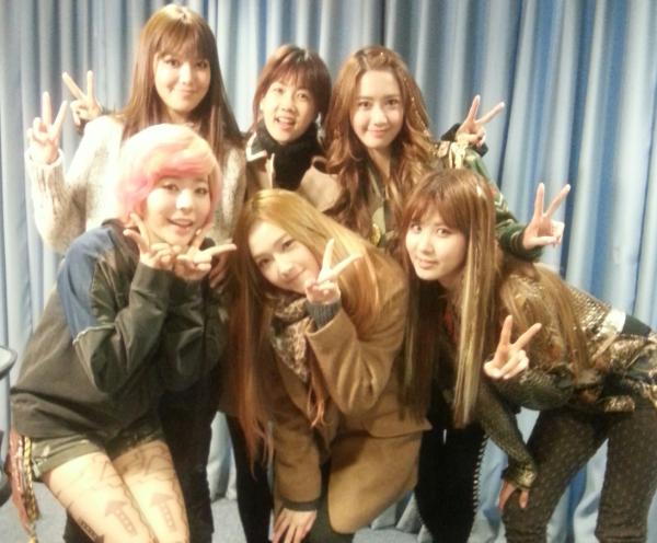 {130111} SNSD @ Park So Hyun Love Game Radio Pictures 130111parksohyun2