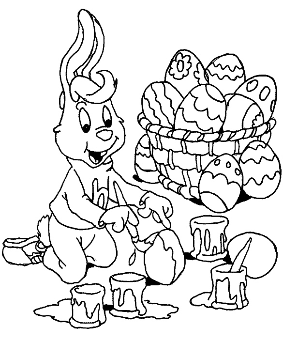 Easter Coloring In Sheets : Free coloring pages march