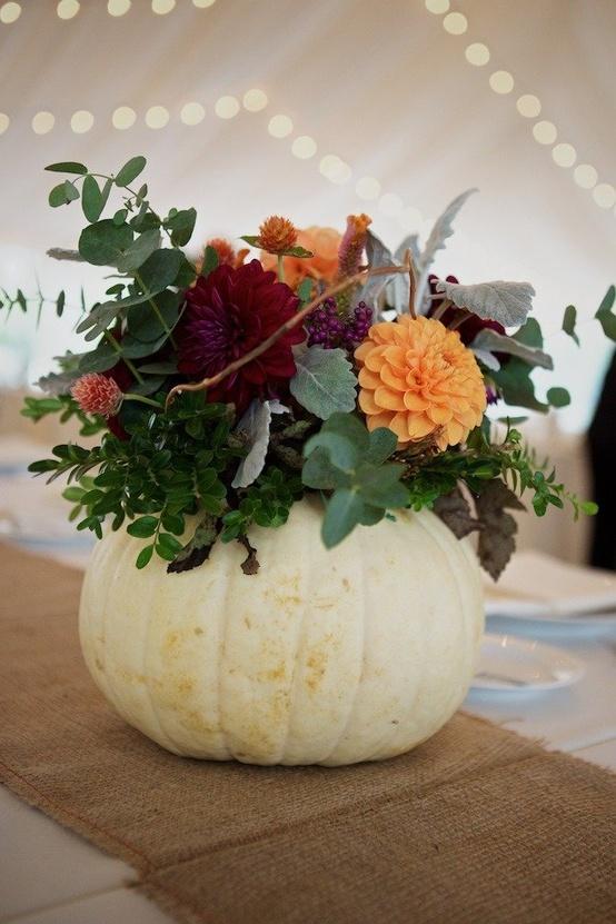 Koru wedding style white pumpkin love
