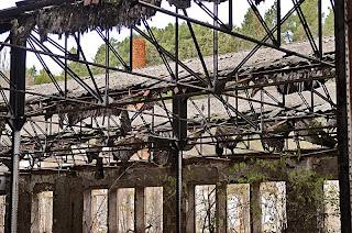 Estado de la fabrica de Hispano Textil durante su desmantelamiento